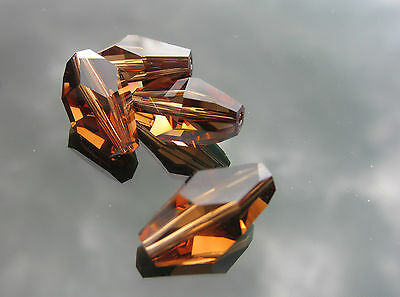 2pc Swarovski Elements 12x8mm or 18x12mm Polygon 5203 Beads Small or Large