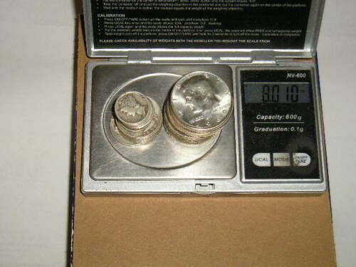 8-oz US Silver Coins 1940/'s-1960/'s HALF DOLLARS QUARTERS DIMES BONUS AVAILABLE!
