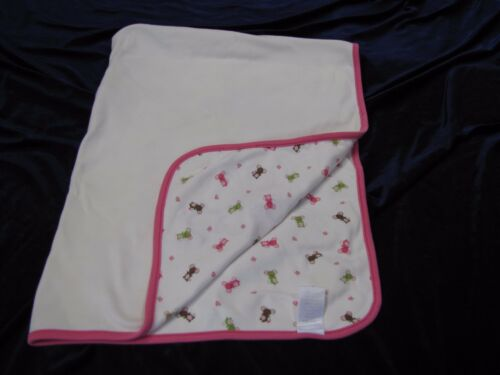 Gymboree Baby Girl 2007 Blanket Little Field Mouse Mice Pink Cream Cotton Lovey