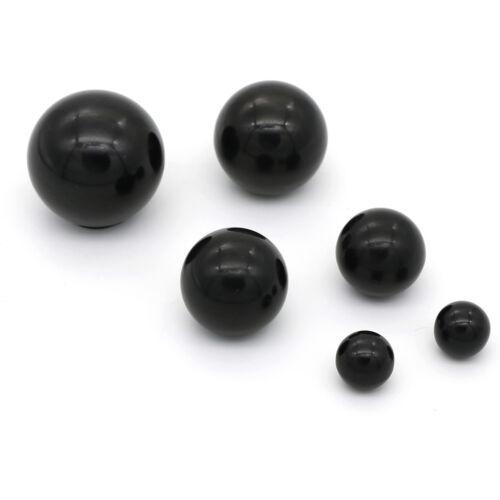 Black plastic M4//M5//M6//M8//M10//M12 thread ball shaped head clamping nuts knob aHQ