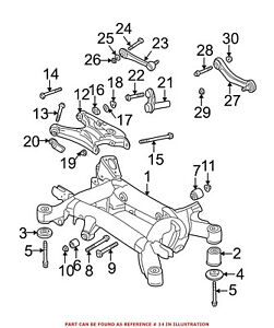 For BMW Genuine Lateral Arm Bolt Rear Lower 33326779785