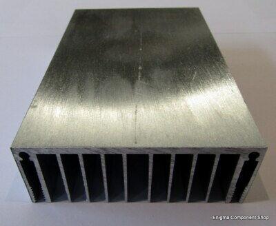 Black Anodised Heatsink Electronics-Amplifier-Audio Project 200 x 100 x 40mm.