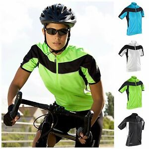 Jerseys Womens Short Sleeve Cycling Jersey Top Full Zip Breathable Lightweight Size 8-16 To Invigorate Health Effectively Activewear