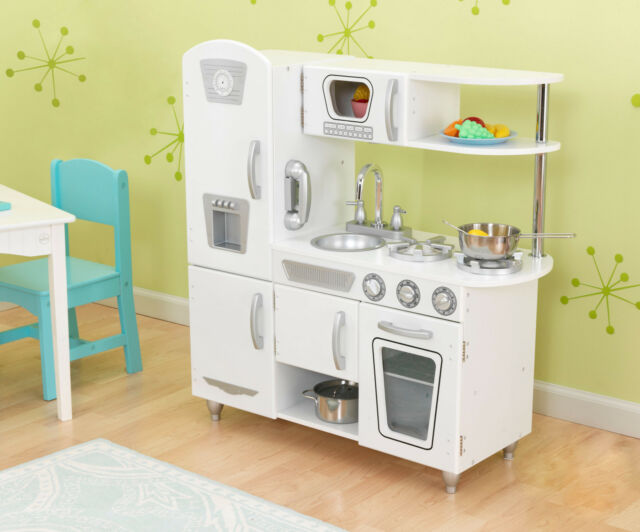 Wooden Retro White Vintage Kitchen by Kidkraft