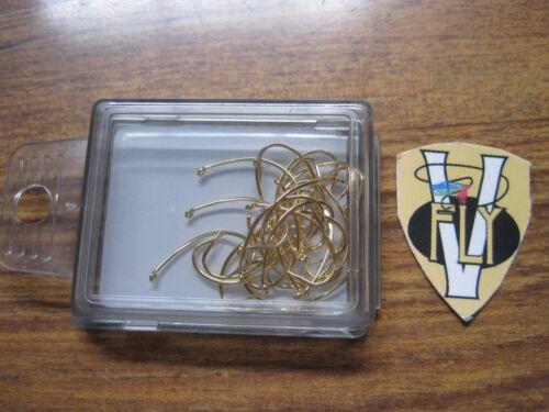 Kamasan Needle Point B100G Trout Grub Hooks 25 Size 10 Gold
