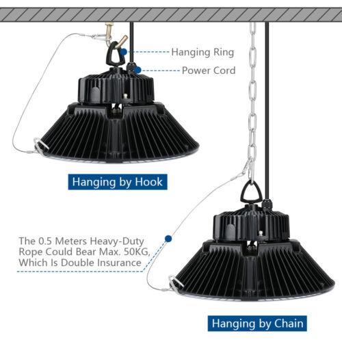 200W UFO LED Hallenbeleuchtung Hallenleuchte High Bay Industrielampe Neutralweiß