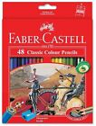 Faber-Castell 48 Classic Colour Pencils Sharpener BGOLD Silver Coloured