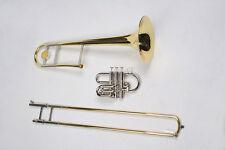 Karl Glaser HIGH GRADE BB TRENO E VALVOLA-trombone, argentata macchina, valigia