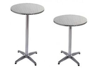 table haute de bar table bistrot alu / inox Ø 60cm, hauteur