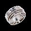 Solid-925-Sterling-Silver-Handmade-Wide-Band-Fidget-Spinner-Ring-Meditation-Ring thumbnail 2