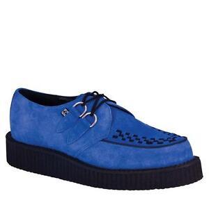 Creeper Blue k Elettrico Low u Suede T Rockabilly Suola A8282 HIOwxW8q