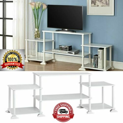 "3-Cube TV Stand Entertainment Center Organizer Fits 40/"" LCD White Open Shelf New"
