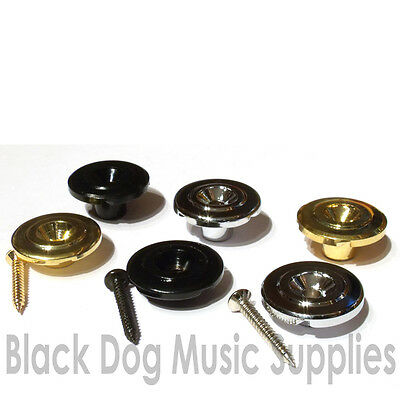 Bass guitar string tree retainer chrome black or gold