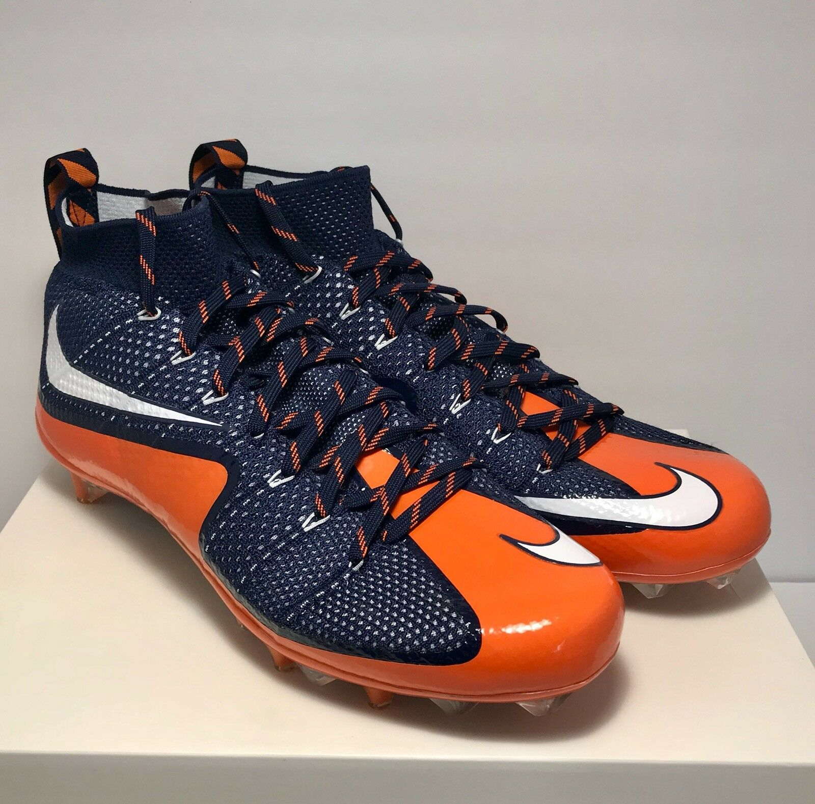 200 Nike Mens Size 13 Untouchable 1 Football Cleats Blue Orange New Rare