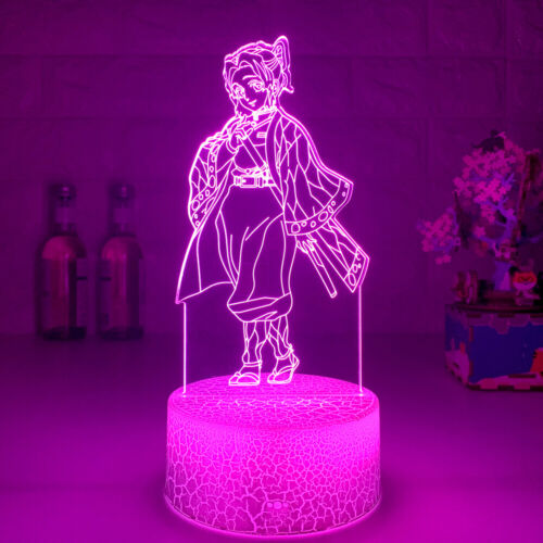 Acrylic Anime Demon Slayer 3D Lamp LED Night Light Newest For Bedroom Decoration