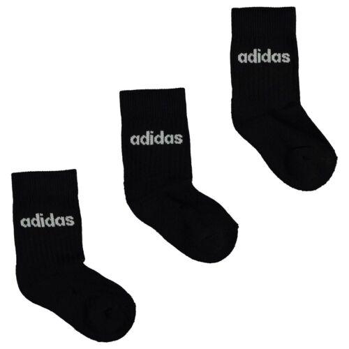 Kids adidas Crew Socks 3 Pack Infants New