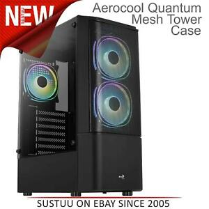 Aerocool Quantum Mesh Mid Tower Case with Tempered Glass│2X120MM Fan│Black