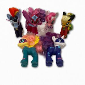 Lot Of 6 Hasbro My Little Pony 2010 Horse Brushable Mixed Figures Set