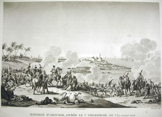 Batalla del Nilo Egipto Almirante Nelson/Napoleón Bonaparte 1815 Swebach