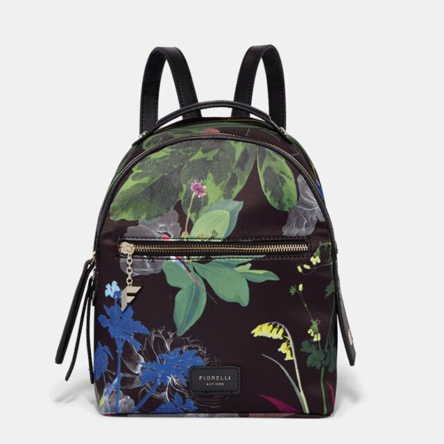 search for newest running shoes convenience goods Fiorelli Anouk Black Botanical Winter Flowers backpack rucksack. BNWT. RRP  £59