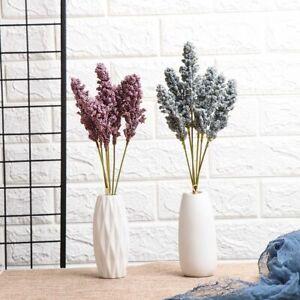 6Pcs-Pack-Artificial-Foam-Vanilla-Berry-Spike-Flower-Bouquet-Home-Decoration