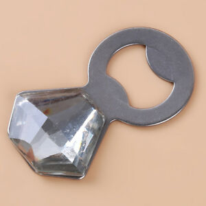 Bling Diamond Ring Bottle Opener Favor Wedding Bachelorette Bridal Shower Gift