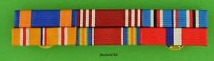 WWII-Army-Air-Corps-Philippines-Asia-Pacific-Service-Mounted-6-Ribbon-Bar-WW2