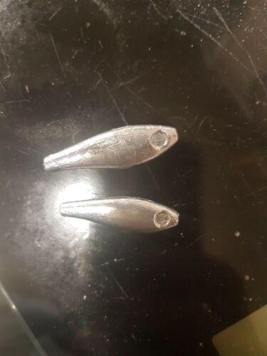FISHING  12IN1  FISH SHAPE LEAD WEIGHT MOULD 6X15G 6X10G CNC ALUMINIUM