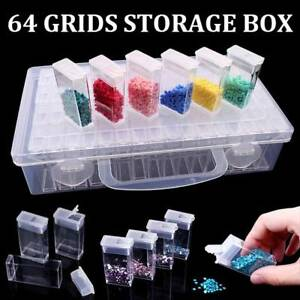 64-Grid-Embroidery-Painting-Tool-Plastic-Jewelry-Beads-Drill-Storage-Box-UKSTOCK