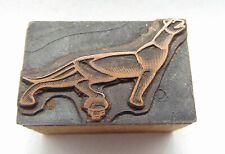 Printing Letterpress Printers Block Car Hood Ornament Animal