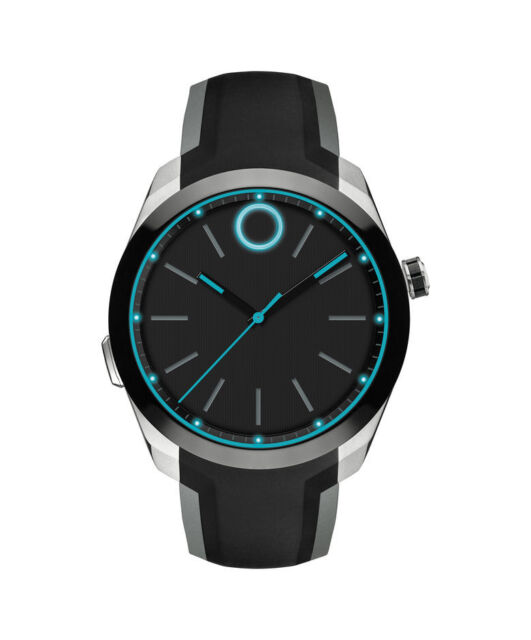 d3c4ff4f2 Movado Bold Motion Mens Black Silicone Strap Smartwatch 3660001 for ...
