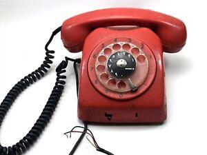 Antique-Vintage-Original-Ericsson-Red-Telephone-Retro-lt-CT01