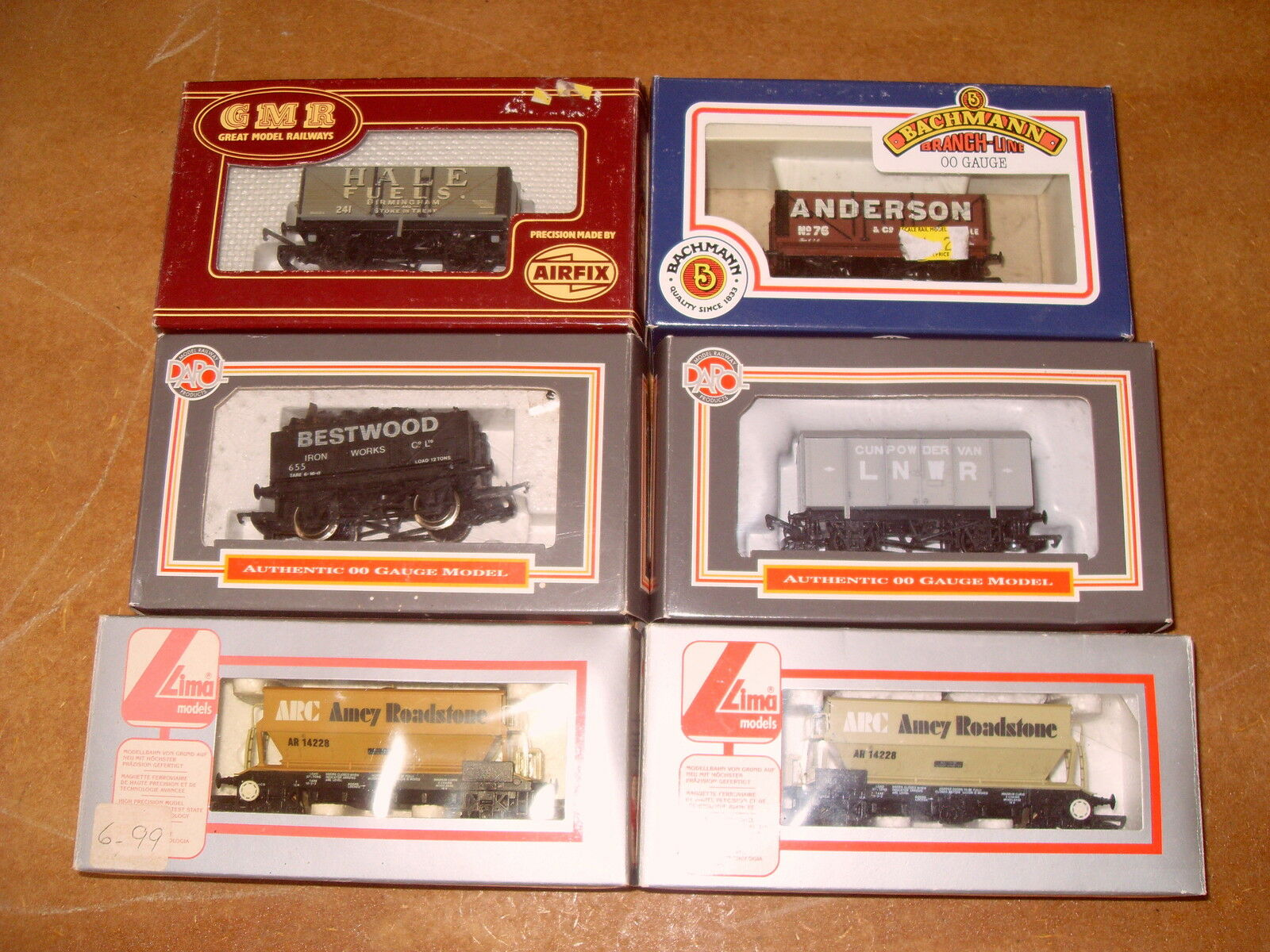 Job Lot Of 6 OO Gauge Wagons - Lima   Dapol   Bachmann   Airfix - As Photo's