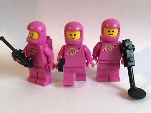 LEGO the Movie 2 - 3 PINK CLASSIC SPACEMEN from 70841 genuine lego SPACE parts