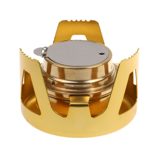 Mini Stove Alcohol Brass Burner Furnace Camping Backpacking Outdoor Cookware