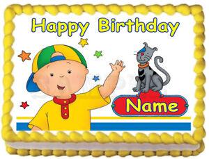 Prime Caillou Edible Party Cake Topper Image Ebay Funny Birthday Cards Online Alyptdamsfinfo