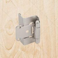 Full Wrap Self Closing Cabinet Hinge Satin Nickel 1/2 Overlay 3/4 Frame Hs541