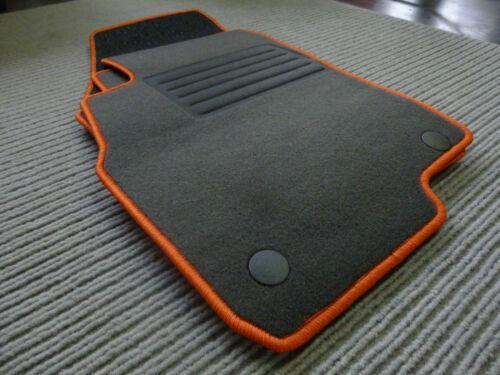 Rand ORANGE+NEU Punto Evo 5trg Original Lengenfelder Fußmatten für Fiat Punto