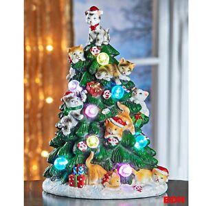 Weihnachtsbaum LED Kätzchen m.Farbwechsler Katzenbaum Katzen Tannenbaum Deko NEU