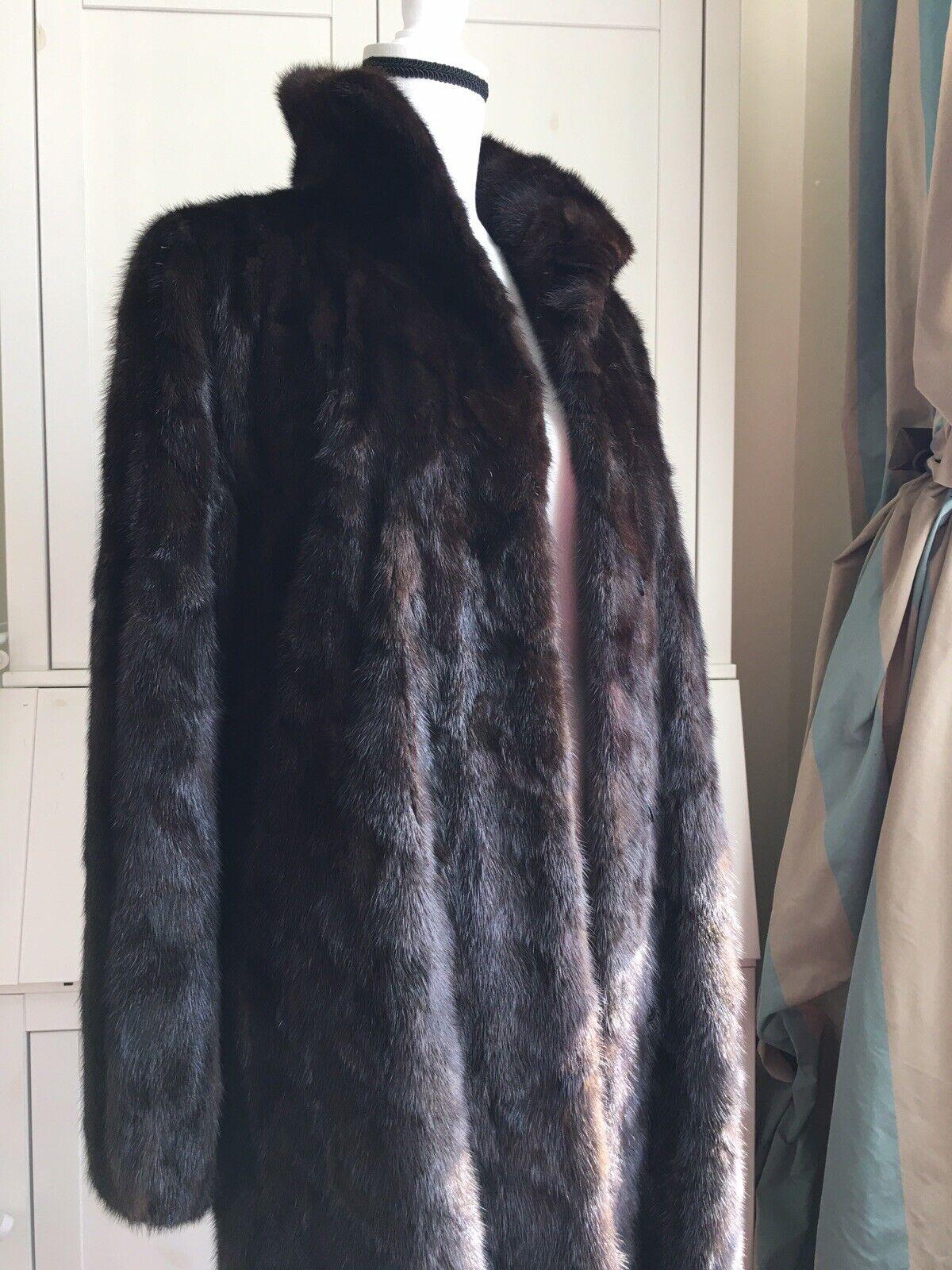 """Dark Brown Mink Fur Coat Full Lenght  """"Diane Furs… - image 7"""
