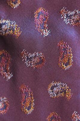 Herren-accessoires Altea Silk Tie Aubergine Rust & White Paisley Shells A Wedding Stunner Nmcond Um Zu Helfen Fettiges Essen Zu Verdauen