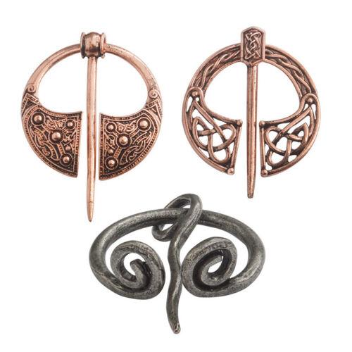 Retro Viking Collar Brooch Pin Buckle Spiral Clasp Brooch Cloak Pin Brooch LY