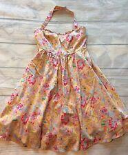 Vero Moda Dress Sz 160 80A Womens XS = Girls XL Pink Party Ruffle Halter Summer