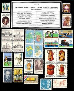 1979-COMPLETE-YEAR-SET-OF-MINT-NH-MNH-VINTAGE-U-S-POSTAGE-STAMPS
