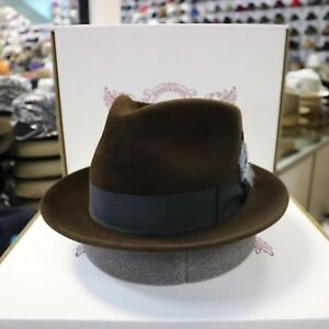 53df30c566c Image is loading BILTMORE-TRENTON-CHOCO-IMPERIAL-FUR-FELT-FEDORA-DRESS-