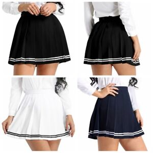 940e38fcb7c37 Plus Size Sexy Japanese School Girl Women Tennis Plaid Pleated Mini ...