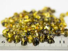 Genuine Natural Very Rare Green Polish Baltic Amber Medium Beads w Holes - 20pcs