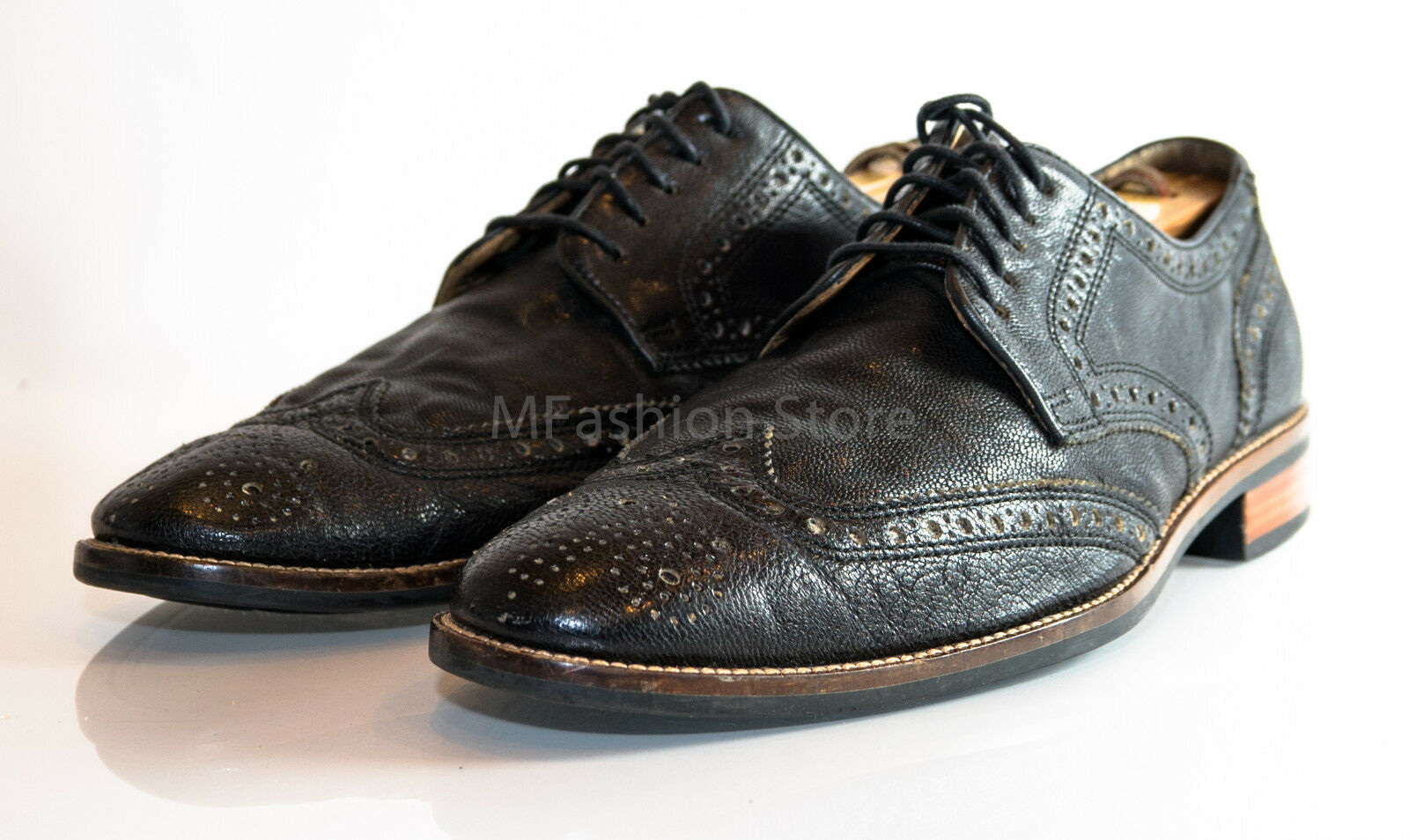 all'ingrosso a buon mercato Cole Haan Haan Haan nero Wing Tip Lace Up Loafers Dimensione US 8M Pre Owned  economico