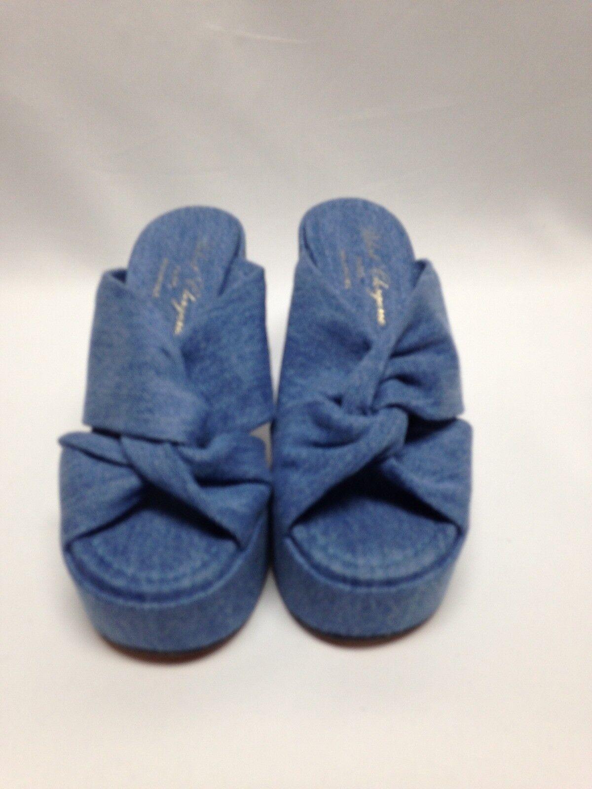 Robert Clergerie Clergerie Clergerie Esthert Denim Sandals Women shoes 5.5 bluee NWD 6bdb80
