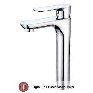 Image Is Loading 034 Tigra Chrome Tall Basin Mono Mixer